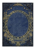 Blue and gold old floral cover book — Stock Photo