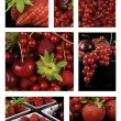 High quality red fruit collage — Stock Photo #8540016