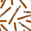 Stock Photo: A lot of euro cigarette