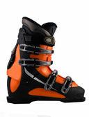 Orange ski shoe isolated on white — Stock Photo