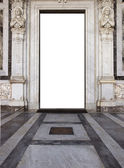 Church door in saint paolo basilica in rome — Stock Photo