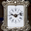Old vintage silver clock — Stock Photo
