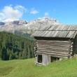Wood house in mountain — Stock Photo #8630502