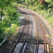 Rail railway track — Stock Photo