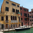 Colorful typical houses and canal at Venezia - Italy — Stock Photo