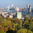 Stock Photo: View of part of Rotterdam city and park from Euromast tower - N