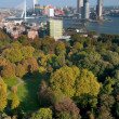 View of Rotterdam city and park from Euromast tower - Netherlands — Stock Photo