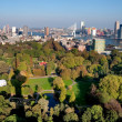 View of Rotterdam city and park from Euromast tower - Netherlan — Stock Photo
