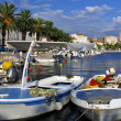 View of Split port and city with boats - Croatia — Stockfoto