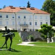 Tivoli Castle with statue at Ljubljana - Slovenia — Stock Photo