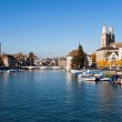 Limmat river and city on a sunny day at Zurich - Switzerland — Stock Photo #8247461