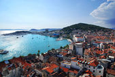 View of Split port and city and marjan hill- Croatia — Foto de Stock