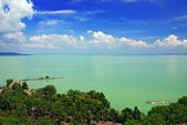 View of Balaton lake from Tihany abbey — Foto de Stock