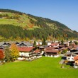 Houses at Kirchberg in tirol - Kitzbuhel Austria — Stock Photo