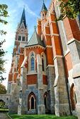 Back view of Herz Jesu Kirche - Graz — Stock Photo