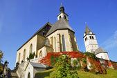 Parish Church and Church or our Lady - Kitzbuhel Austria — Stock Photo