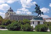 Horse statue at Volksgarten - Vienna - Austria — Stock Photo
