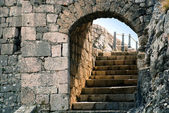 Stone door and stairs at Knin fortress - Croatia — Stock Photo