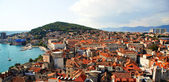 Postcard of city and Marjan Hill at Split - Croatia — Stock Photo