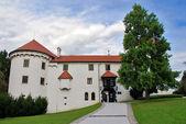 Bogensperk Schloss Vorderansicht — Stockfoto