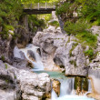 Dolomiti - Val Cimoliana Waterfall - Stock Photo
