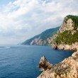 Porto Venere Sea and mountains of Cinque terre - Stock Photo