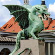 Dragon at Zmajski most - ljubljana — Stock Photo