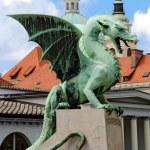 Dragon at Zmajski most - ljubljana — Stock Photo #8423621