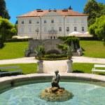 Tivoli castle and fountain at Ljubljana — Stock Photo #8423693