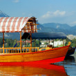 Royalty-Free Stock Photo: Wood Boat at Bled Lake