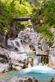 Dolomiti - Val Cimoliana Waterfall — Stock Photo