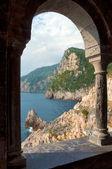 Arcade at St Peters Church - Porto venere - Liguria - Italy — Stock Photo