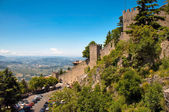 Walls and landscape at Repubblica di San Marino — Stock Photo