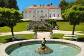 Tivoli castle and fountain at Ljubljana — Stock Photo