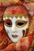 Venetian Mask - Lady with red costume — Stock fotografie