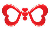 Butterfly_love_symbol — Stock Photo