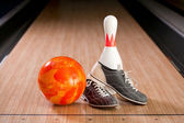 Bowling composition — Stock Photo