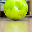 Green bowling ball - Stock Photo
