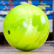 Stock Photo: Green bowling ball