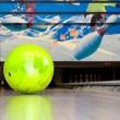 Green bowling ball. — Stock Photo
