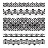 Seamless lace set — Stock Vector