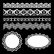 Stock Vector: Seamless lace set