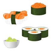 Vector sushi set — Stock Vector
