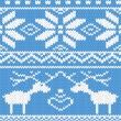 Seamless knitted pattern with deer — Stock Vector #8249399