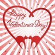 Valentine&#039;s day background with cats - Stock Vector
