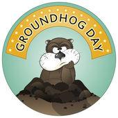Groundhog Day — Stock Vector