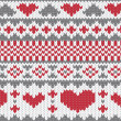 Royalty-Free Stock Vector Image: Knitted pattern vector with hearts