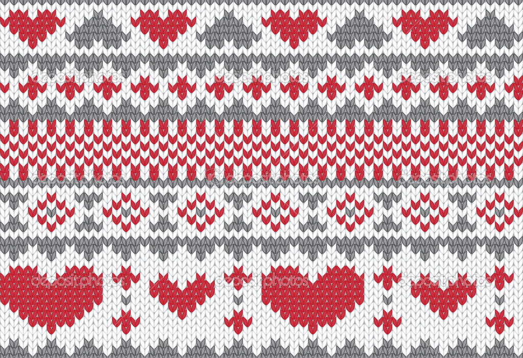 Seamless knitted pattern for winter clothing. Vector illustration. — Stock Vector #8509535