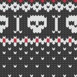 Royalty-Free Stock Vector Image: Knitted pattern with skulls