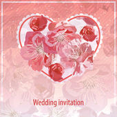 Invitation for wedding — Stock Vector